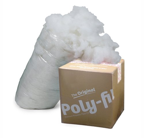 Fairfield The Original Poly Fil Premium 100  Polyester Fiber Fill Box  6 5 Pounds  White