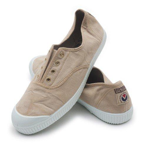 Victoria - Zapatillas de casa de tela para niños Piedra