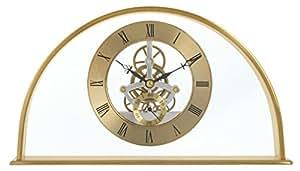 Acctim 36488 Winslow - Reloj de mesa (forma de media luna, mecanismo visible), color dorado
