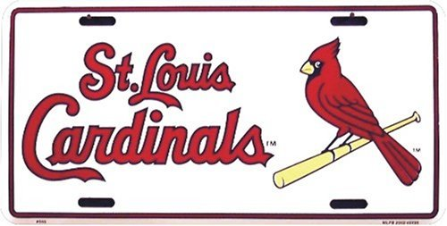 (HangTime St. Louis Cardinals Classic Metal Auto Tag Embossed )