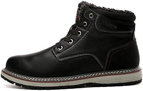 裏ボア 綿靴 大きいサイズ メンズ ブーツ 欧米風 ショートブーツ 防滑 防水 紳士靴 レースアップシューズ 革靴 通勤 マーティンブーツ 雪靴 スノーブーツ メンズシューズ カジュアル 冬ブーツ ムートンブーツ