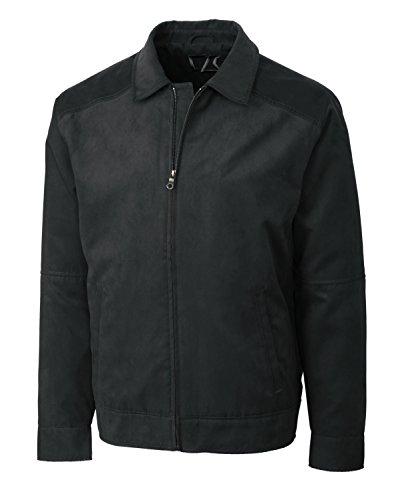 Cutter & Buck MCO00917 Mens Microsuede Roosevelt Jacket, Black-XXXL - Black Microsuede Jacket