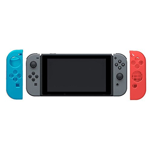 Kobwa 2017 Newly Soft Anti-slip Silicone Protective Cover Skin for Nintendo Switch Controller