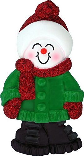 Big Personalized Brother Ornament (Snowboy with Expression Terrific Big Brother Personalized Christmas Tree Ornament)