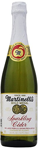 - Martinelli's Gold Medal Sparkling Apple Cider Juice, 25.4 oz (8 Bottles)