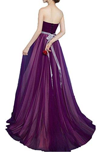 Promgirl House Damen Huebsch Traegerlos Prinzessin A-Linie Abendkleider Ballkleider Cocktailkleider Lang