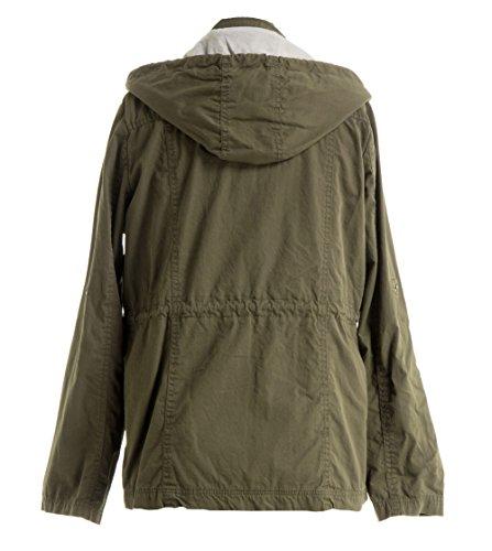 Review FASHIONOMICS Womens Military Cargo Safari Pockets Removable Hood Jacket Olive S