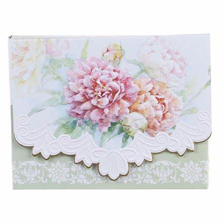 Carol's Rose Garden Peony Mix Blank 10 Card Set Portfolio by Carol Wilson Fine Arts