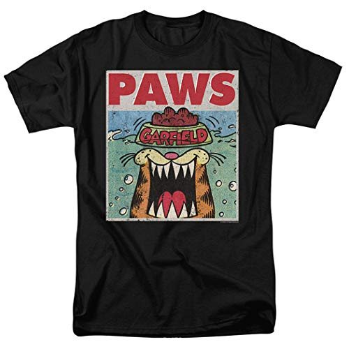 (Garfield Paws Jaws Parody T Shirt & Stickers (Medium))