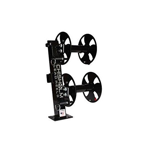 10'' BLACK Heavy-Duty FIXED-BASE Double Welding Cable Lead Reel Holds up to 150' of 1/0 Cable