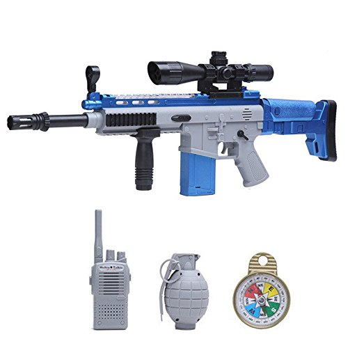 Electric Submachine Gun Sniper Rifle Action Toy LED Space Fl