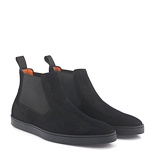Santoni Chelsea Boots 15239 Zwart Suède