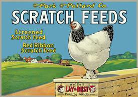 Tin Feed Store Sign (TIN Sign Scratch Feeds)