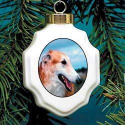 Christmas Ornament: Borzoi
