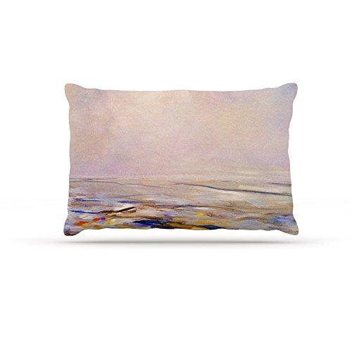 30 by 40\ Kess InHouse Iris Lehnhardt Hazy Sunrise  Pink Fleece Dog Bed, 30 by 40