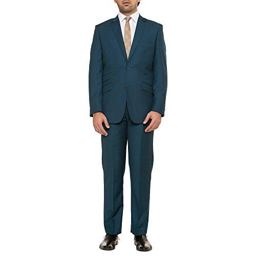 English Laundry Slim Fit Solid Teal Suit Separates Jacket Teal 38 (Shoes Seersucker Suit)