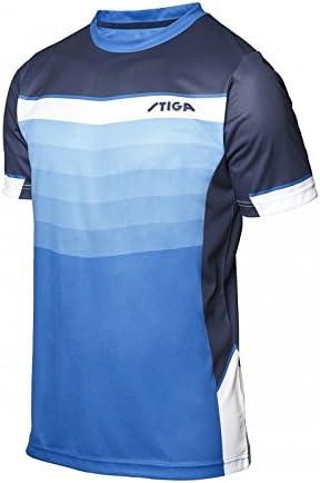 Stiga River - Camiseta de Tenis de Mesa, Color Azul