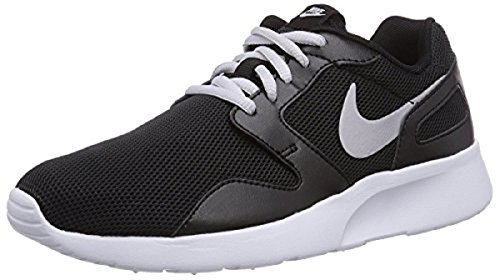 NIKE Womens Kaishi Athletic Shoe (7.5, Black/Metallic Silver-White)