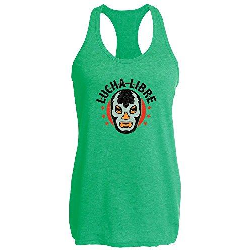 Pop Threads Lucha Libre Retro Heather Kelly XL Womens Tank (Female Luchador Costumes)