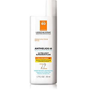 La Roche-Posay Anthelios Clear Skin Face Sunscreen for Oily Skin SPF 60 Oil-Free Dry Touch Sunscreen, Water Resistant, 1.7 Fl. Oz.