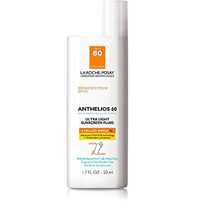 La Roche-Posay Anthelios Ultra Light Sunscreen Fluid SPF 60 Antioxidant Sunscreen, Water Resistant, 1.7 Fl. Oz.