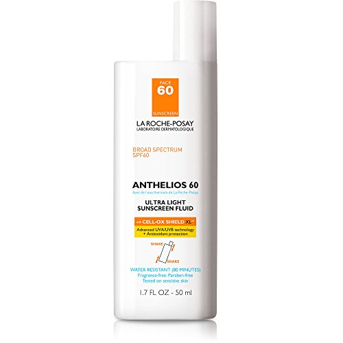 Uv Fluid (La Roche-Posay Anthelios 60 Face Sunscreen, Ultra-Light Fluid SPF 60 with Antioxidants, 1.7 Fl. Oz.)