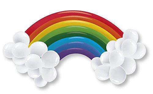 Rainbow Balloon Kit Arch Party Multicoloured Cloud