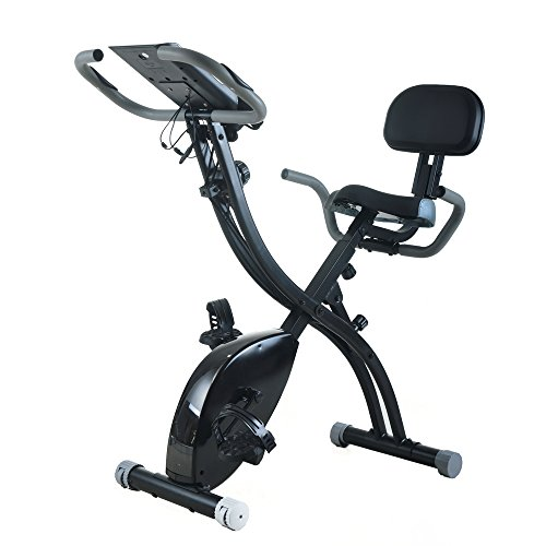PEXMOR Adjustable Folding Upright Magnetic Bike with display screen, Recumbent Exercise Bicycle for Indoor Cardio Workout Fitness