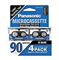 Panasonic 90min 4 Pack Microcassette tape by Matsushita Electric Industrial CO. Ltd