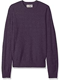 Men's Solid Lambswool Crew Sweater