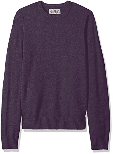 Original Penguin Men's Solid Lambswool Crew Sweater, Plum Wine, Extra Large by Original Penguin
