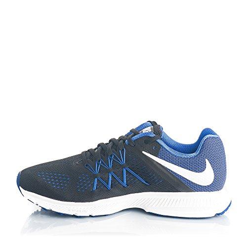 Nike Herren Zoom Winflo 3 Laufschuhe Mehrfarbig (Black/white-paramount Blue)