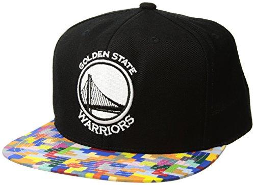 (Mitchell & Ness Golden State Warriors Pixel Blast Snapback Hat)