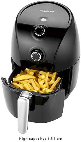 Bomann FR 6001 H CB - Friteuse à air chaud - 1.5 L - Noir