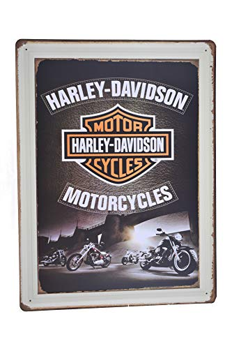 Motorcycle Retro Metal Tin Sign Posters Wall Decor 12X16-Inch ()