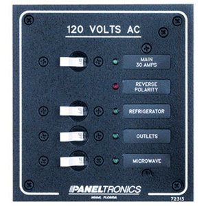 Paneltronics Standard AC 3 Position Breaker Panel & Main ()