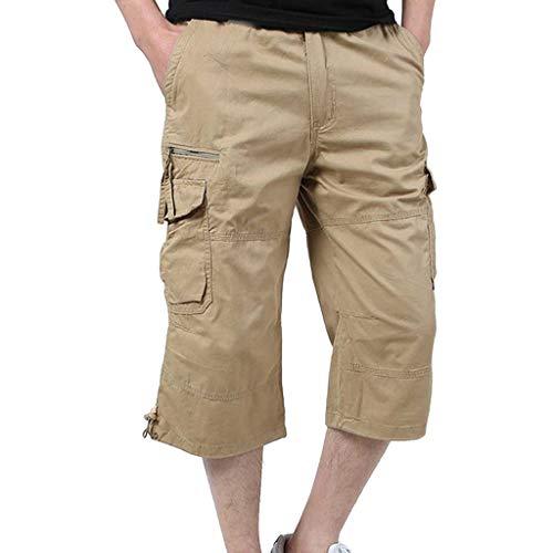 Multi Et Pantalon Pantacourt Soldes longueur Kaki Day lin Sports Hommes Bermudas Bain Short De Salopette Natation Demi Pure poche Travail Shorts Maillot Couleur atOqqvwB