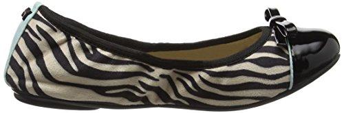 con Black 034 Negro Zebra para Cerrada Cara Bailarinas Punta Butterfly Animal Twists Mujer THapInaqPx