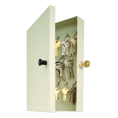 - STEELMASTER 14-Key Hook-Style Steel Key Cabinet with Key Lock, Putty (201201489)