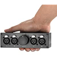 Nobsound Little Bear 3(1)-IN-1(3)-OUT XLR Balance Stereo Audio Switcher Passive Selector Splitter Box