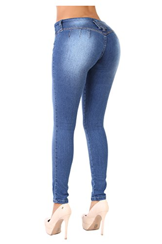 Curvify 765 Premium Women's Enhanced Butt Liftting Skinny Jeans Faded Washed 13