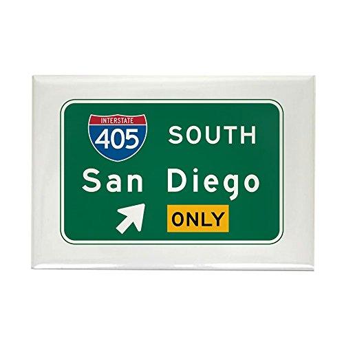 CafePress San Diego, CA Highway Sign Rectangle Magnet, 2