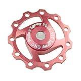 Lerway® Aluminium Jockey Wheel Rear Derailleur Pulley SHIMANO SRAM 11T Keychain Red 1pcs