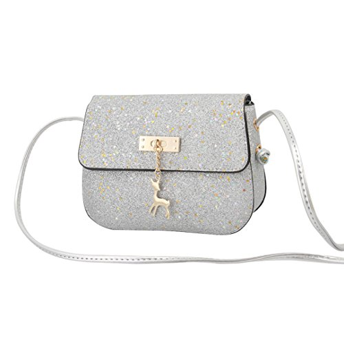 Glitter 00465 Handbag Womens Bag Sequin Crossbody Little Shoulder Silver Stars Gabrine WX6UH6