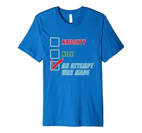 Santa's Naughty or Nice List Funny Christmas Premium T-Shirt -