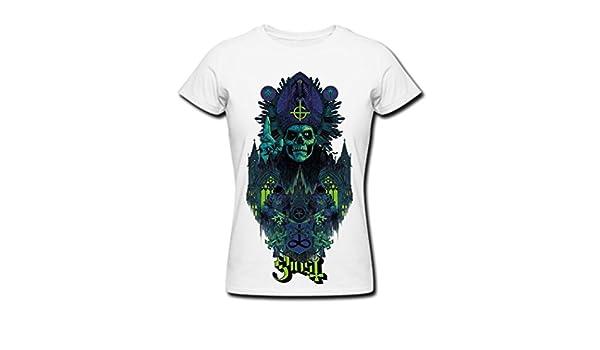 Tqq Popular fantasma de la niña shirt - Camiseta de manga corta para mujer color blanco - Blanco -: Amazon.es: Ropa y accesorios