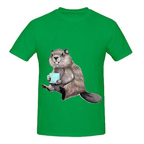 dam-fine-coffee-men-o-neck-custom-shirt-green
