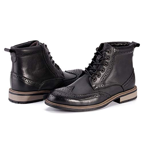 Pelle High Scarpe Pattuglia Rotonda Boot Punta Lace Sicurezza Autunno Brogue WKNBEU Army Desert Vera Nero Stivali Anti B Lavoro Martin Uomo Inverno Casual Marrone Uomo Slip Up Top Outdoor 1xXwB