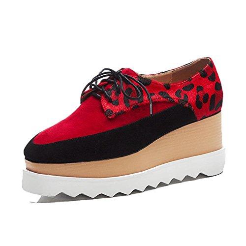 Correa Superior Tela Zapatos WSXY Sujeción de Creativa Mujeres Red Plataforma de A1819 Moda Parte con KJJDE 0TSPq