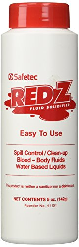 (Safetec Red-Z Fluid Control Solidifier, Shaker Top Bottle, 5oz, Each)
